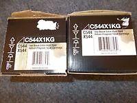 LEXMARK C544X1KG BLACK HIGH YIELD CARTRIDGES (two items) - BARGAIN PRICE