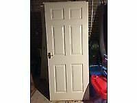2 White Internal Doors