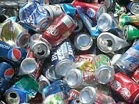 COLLECTING RECYCLABLES FOR BOTTLE DRIVE I CAN PICK THEM UP