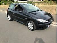 Black Peugeot 206 Diesel 2006 £999