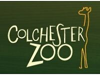 2 x children's tickets for Colchester Zoo £10 the pair