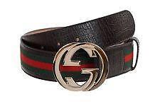 Black gucci belt red and green