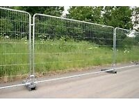 Round top heavy duty heras type fencing