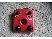 zoom b1 bass guitar effects pedal like new in box fender gibson squire