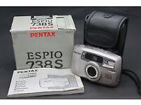 CAMERA PENTAX ESPIO738 SILVER NEW IN BOX