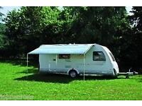 Fiamma Caravanstore Deluxe 310 Roll out awning canopy in blue
