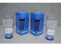 bud light glasses x 6