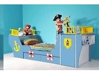 large pirate ship bed with storage