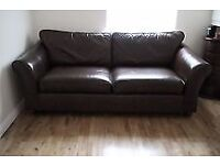 Brown leather sofas x2 can deliver