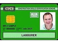 Fast track CSCS Green Card for Labourers - (from - 01.10.16 QCF L1 H&S & CITB) - 1 day*
