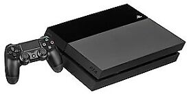 Playstation 4 in black for sale with gran turismo very good condition.