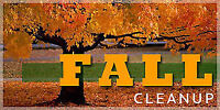FALL CLEAN UP LEAF REMOVAL LAWN RAKING LANDSCAPING