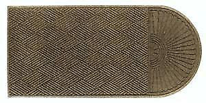 New Andersen 273 Camel Polypropylene Waterhog Grand Classic Entrance Mat, Half Oval/One End, PICKUP ONLY - DI7