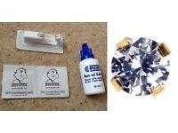 Studex system 75 ear piercing earing 9 ct gold single 5 mm tiffany cubic zirconia kit