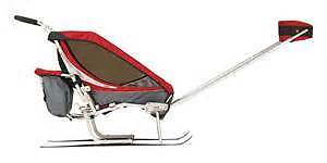 Chariot Jogging Stroller with Ski attachment (2 seater)
