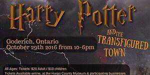 2x Tickets for Harry Potter Goderich Transifugured Town