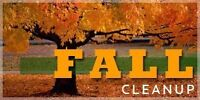 Fall cleaning *