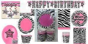 Zebra Baby Shower Decorations