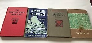 Four Vintage School Books - Manitoba Song Book