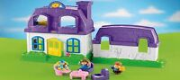 2 purple Fisher Price Little People houses. no people.
