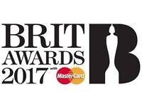 2 x Brit Awards tickets 2017 22/2/17