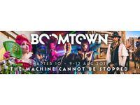 1 x Boomtown Fair Ticket - Weekend Camping + Festival