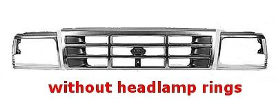 Replacement Grille - Fits Ford Bronco & F-Series - 92-96 (Aftermarket) - Ford Bronco Grille Replacement