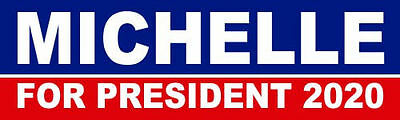 Michelle Obama For President 2020 Bumper Sticker Decal