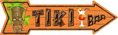 Tiki Bar Metal Arrow Sign 17