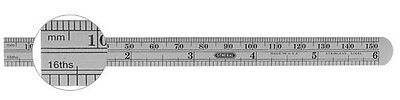 General Tools 305ME Flexible Stainless Steel Precision Rule 6 / 150 mm