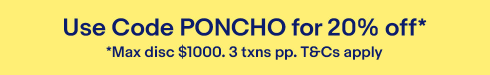 20% off with promo code PONCHO