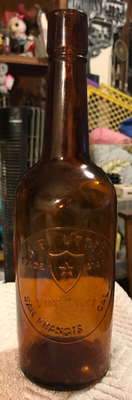 "California Whiskey J. F. CUTTER TRADE SAN FRANCISCO"" - Tool Top DUG IN HAWAII"