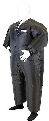 Adult Chub Suit  Inflatable Blow Up Slenderman Slender Man Jumpsuit Costume