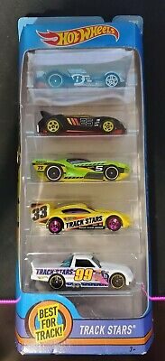 Hot Wheels Best for Track! TRACK STARS  5 Pack 2017. Brand New Sealed