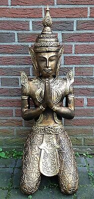 Tempelwächter betend Buddha Statue Dekofigur Figur Skulptur 85cm NEU