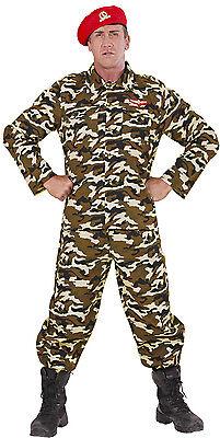 Militär Soldat Kostüm NEU - Herren Karneval Fasching Verkleidung Kostüm