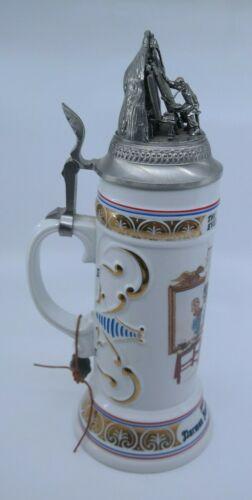 NORMAN ROCKWELL TRIPLE SELF PORTRAIT - Budweiser Centennial Stein 1894-1994