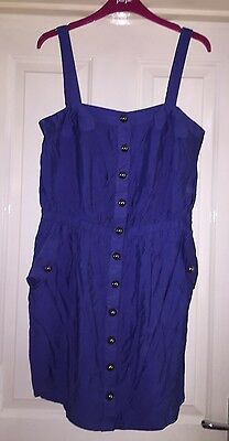 Apricot Electric Blue Dress, Size L (12-14) - Fab!