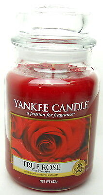 Yankee Candle Scented 22 oz Large Jar Candle-True Rose New (sku:9826)