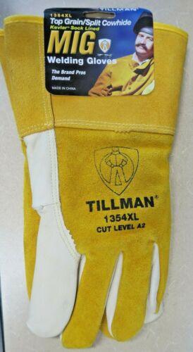 Tillman 1354 XL Top Grain/Split Cowhide Mig Welding M Kevlar Lined Gloves *New*