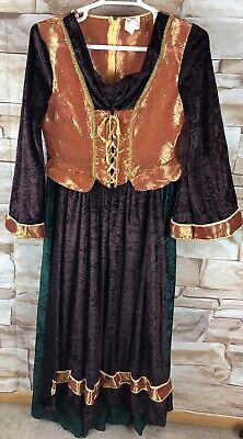 Midevil Costume (Halloween Costume womens size 10-12 Renaissance midevil wench long dress       )