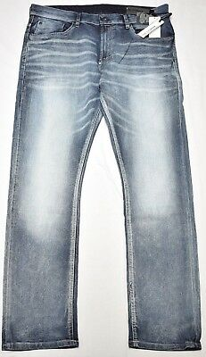 Buffalo David Bitton Jeans Men Ash-X Skinny Stretch Denim Bleached & Blast N931