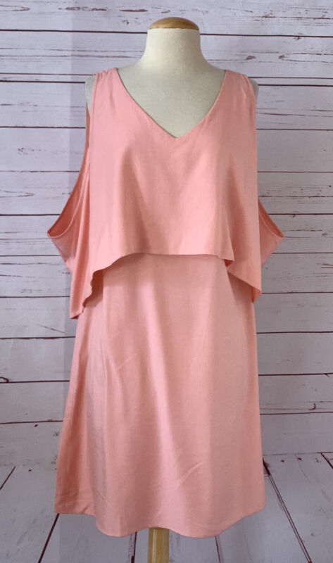 ROSIE POPE Womens Size S Maternity Dress Coral Pink Shoulder Cutout