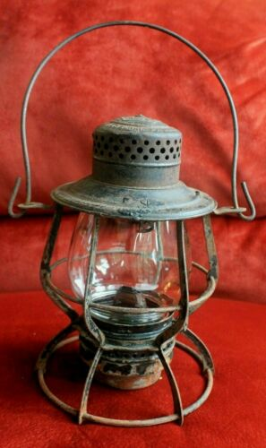 ANTIQUE 1903 KEYSTONE 39 C.P.D. RAILROAD LANTERN PHILA, PA.
