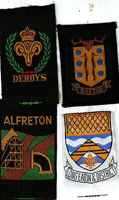 Boy Scout Badges DERBYS County+ Ext BUXTON + LONG EATON + ALFRETON...