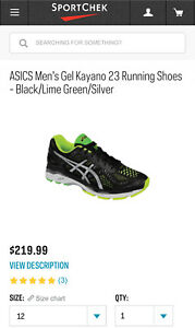 Running Shoes: Size 12