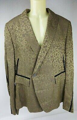 Haider Ackermann Silk Linen Blazer Men's Olive Jacket Size Large