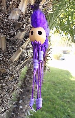 "1"" Kamani Nut Ikaika Hawaiian Hawaii Warrior Helmet Car Decor Purple ( QTY 2 )"