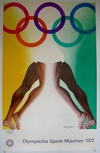 Original Olympic Games Munich poster Allen Jones 1972