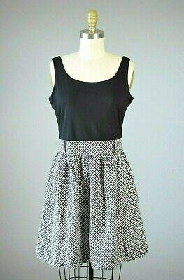 J. MCLAUGHLIN Linen Skirt Smooth Stretch Bust Sleeveless Dress Size Small